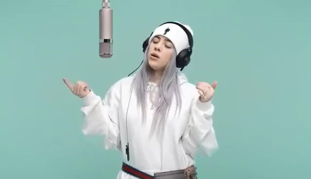 Watch and share Billie Eilish GIFs and Headphones GIFs on Gfycat