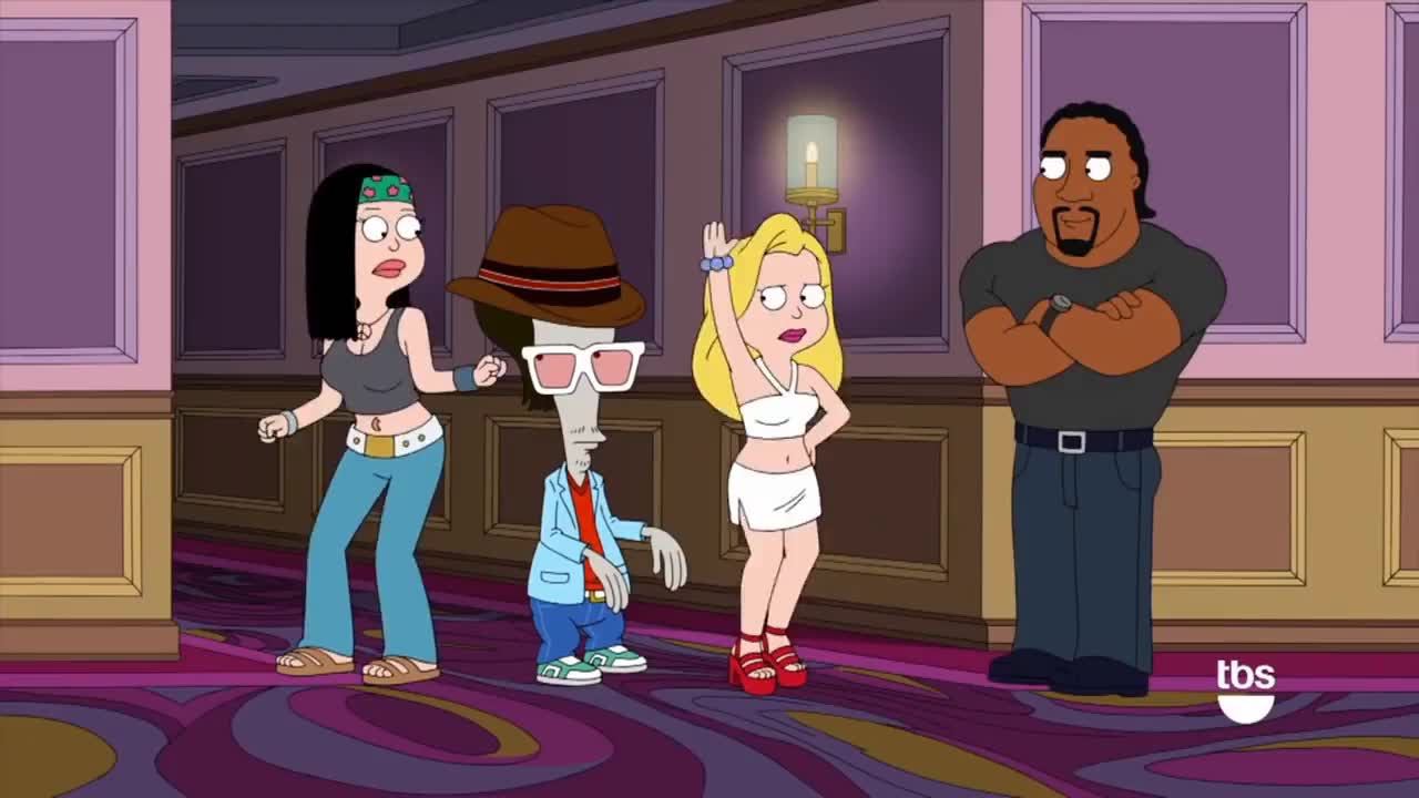 American Dad Wife american dad: hailey's dance off [clip] | tbs gif