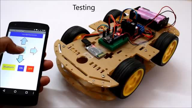 Watch Smartphone Controlled Arduino 4WD Robot Car ( Part - II ) GIF on Gfycat. Discover more 4WD, Car, android, arduino, controlled, diy, kits, nano, robot, smartphone GIFs on Gfycat
