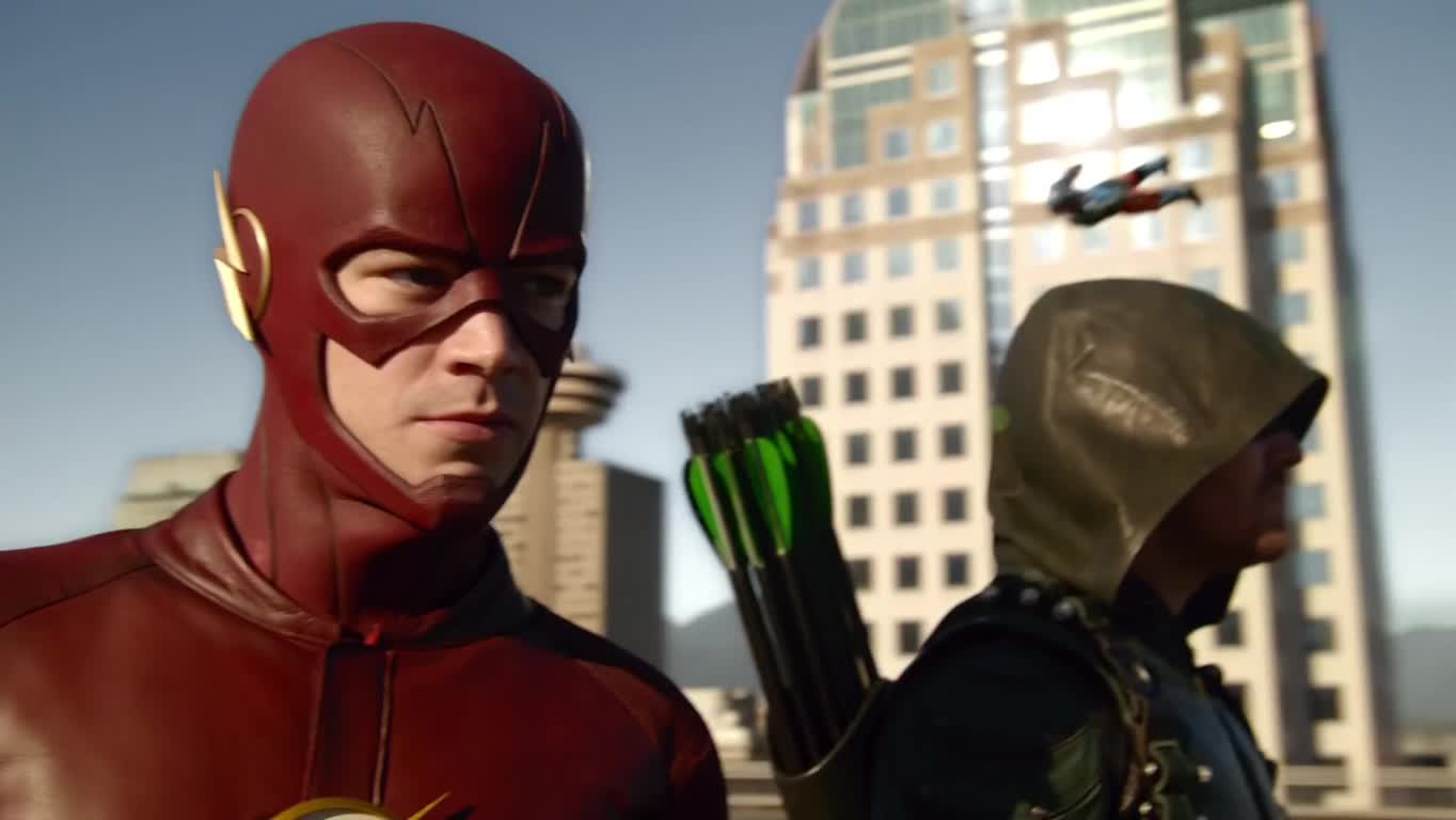 60fpsgfy, dccomics, flashtv, Final Arrowverse Crossover Teamup in 60fps GIFs