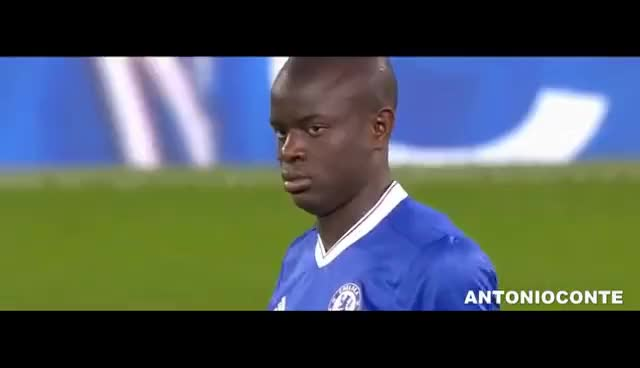 Watch and share N'golo Kante Vs Manchester United (13-03-2017) Home GIFs on Gfycat