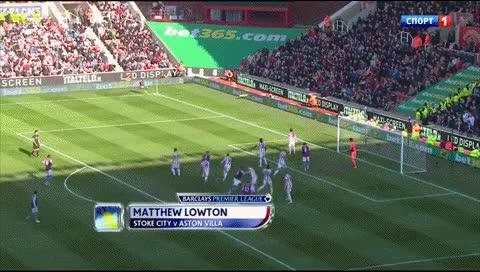 Watch and share Mathew Lowton. Stoke City - Aston Villa. 2013 GIFs by fatalali on Gfycat