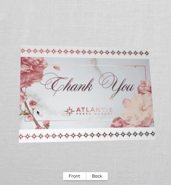 Watch and share Thank You Note Mock (360 View) GIFs by zyzz on Gfycat
