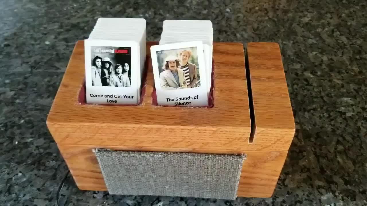 diy, jukebox, raspberri pi, Homemade jukebox controlled by swipeable cards GIFs