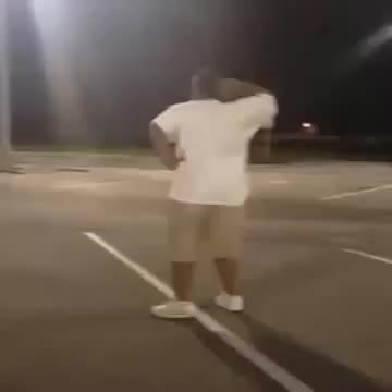 dancing, excited, Chico gordo bailando en un estacionamiento GIFs