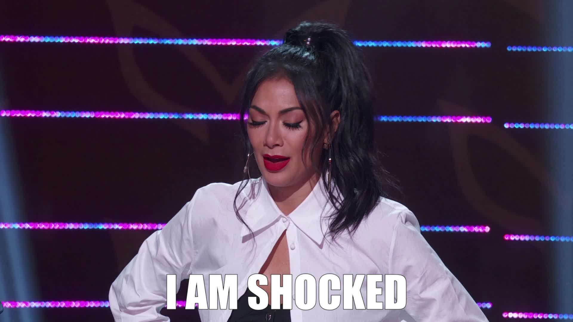 funny, masked singer, nicole scherzinger, omg, shocked, the masked singer, the masked singer on fox, I Am Shocked GIFs