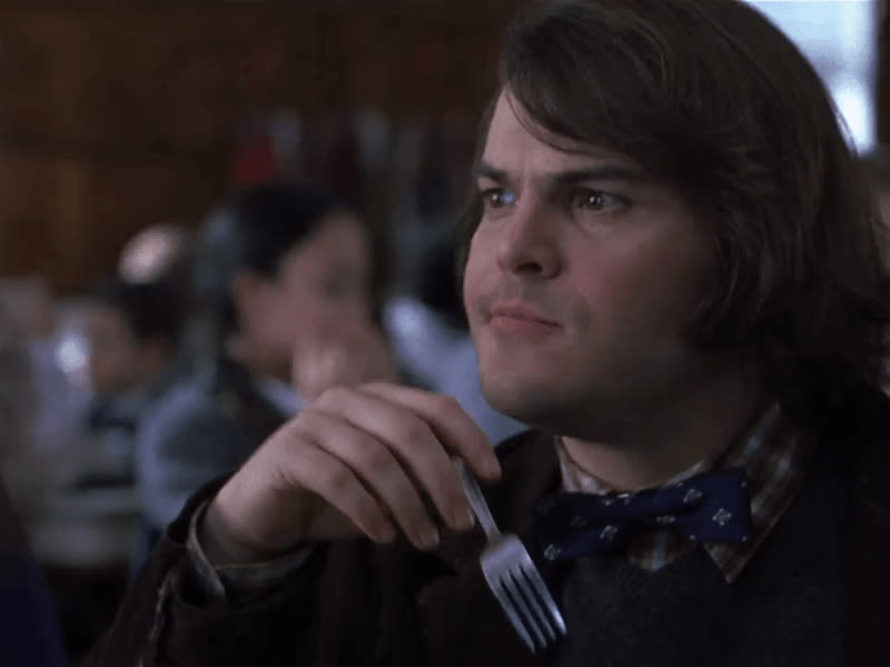 hmm, jack black, no, school of rock, thinking, uhh, Jack Black Hmm No GIFs