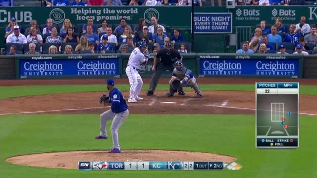 Watch and share Liriano Records First K With The Blue Jays GIFs by cchredden on Gfycat