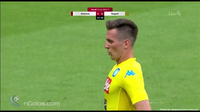 Watch and share Oblak (Atl. Madrid) Penalty Saved Vs Napoli (Audi Cup) GIFs on Gfycat