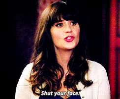 Watch and share Zooey Deschanel GIFs and Stoptalking GIFs by Reactions on Gfycat