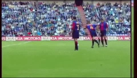 Watch and share Josep Guardiola. Valladolid - Barcelona. 2000-01 - OS GIFs by fatalali on Gfycat
