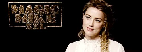 Watch () GIF on Gfycat. Discover more **, 500px, aheardedit, amber heard, being adorable, interview GIFs on Gfycat