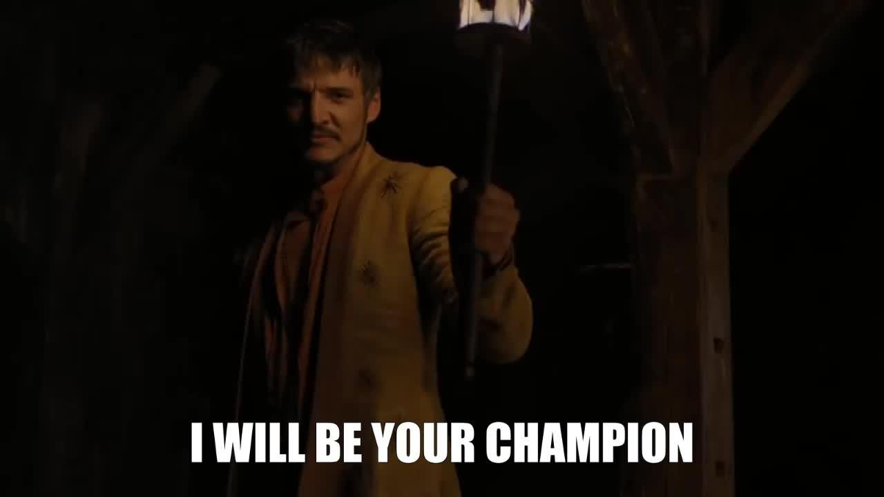 champion, game of thrones, oberyn martell, pedro pascal, I Will Be Your Champion Oberyn Martell GIFs