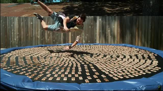 Watch and share Diving Into 1000 Mousetraps In 4K Slow Motion - The Slow Mo Guys GIFs by Reactions on Gfycat