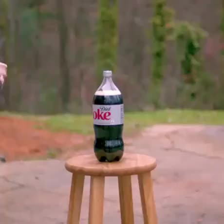 Sword versus coke bottle GIFs