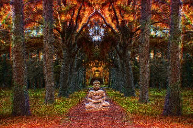 Level 4 psychedelic trip (Morphing Buddha)