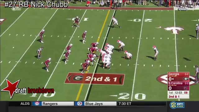 Watch and share RB Nick Chubb Vs South Carolina 2016 GIFs on Gfycat