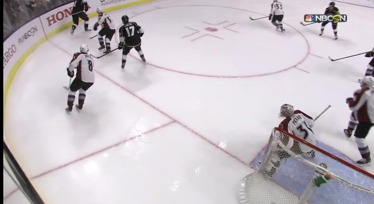 coloradoavalanche, gifsfromthegame, losangeleskings, Pickard stops Lucic out front GIFs
