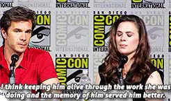 Watch Daily Hayley Atwell GIF on Gfycat. Discover more *, agent carter, atwelledit, by aseel, conventions, gifs, hayley atwell, hayleyatwelledit, sdcc15 GIFs on Gfycat