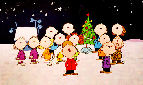 bell, carol, christmas, happy, holidays, jingle, sing, snoopy, tree, xmas, Snoopy Xmas GIFs