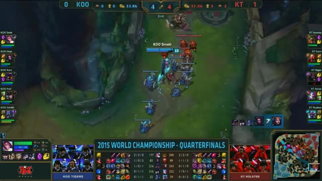 Watch and share [Worlds 2015] KOO Smeb $3 KT GIFs by ITCC on Gfycat