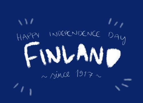 Watch and share Blue, Finland, Gif, Independence Day,  6.12 GIFs on Gfycat