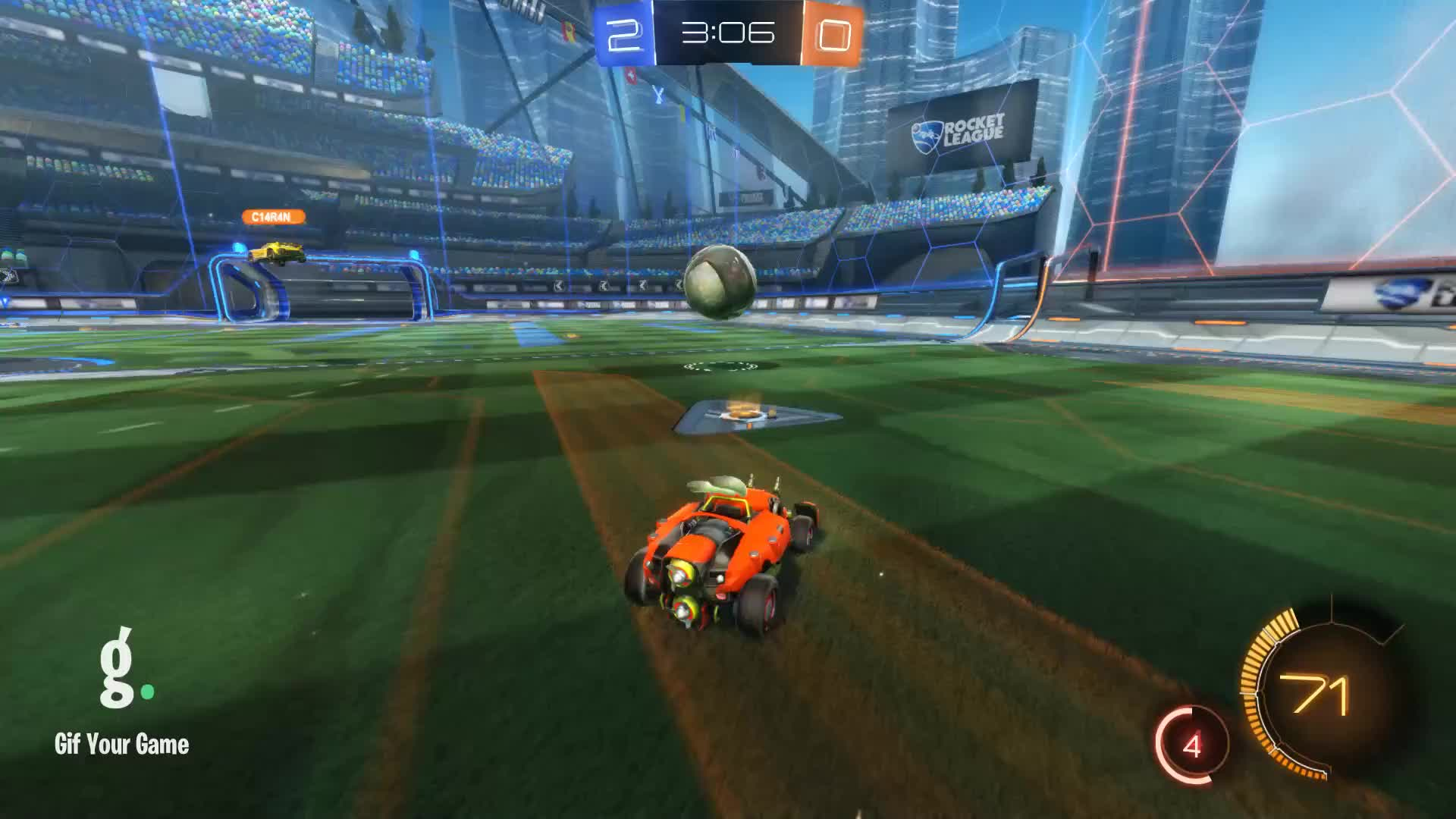 CROSSFIT JESUS, Gif Your Game, GifYourGame, Rocket League, RocketLeague, celebrity, celebs, phil mcgraw, Remixed Assist 2: CROSSFIT JESUS GIFs