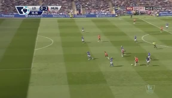 highlightgifs, Ángel di María's chip vs Leicester (reddit) GIFs