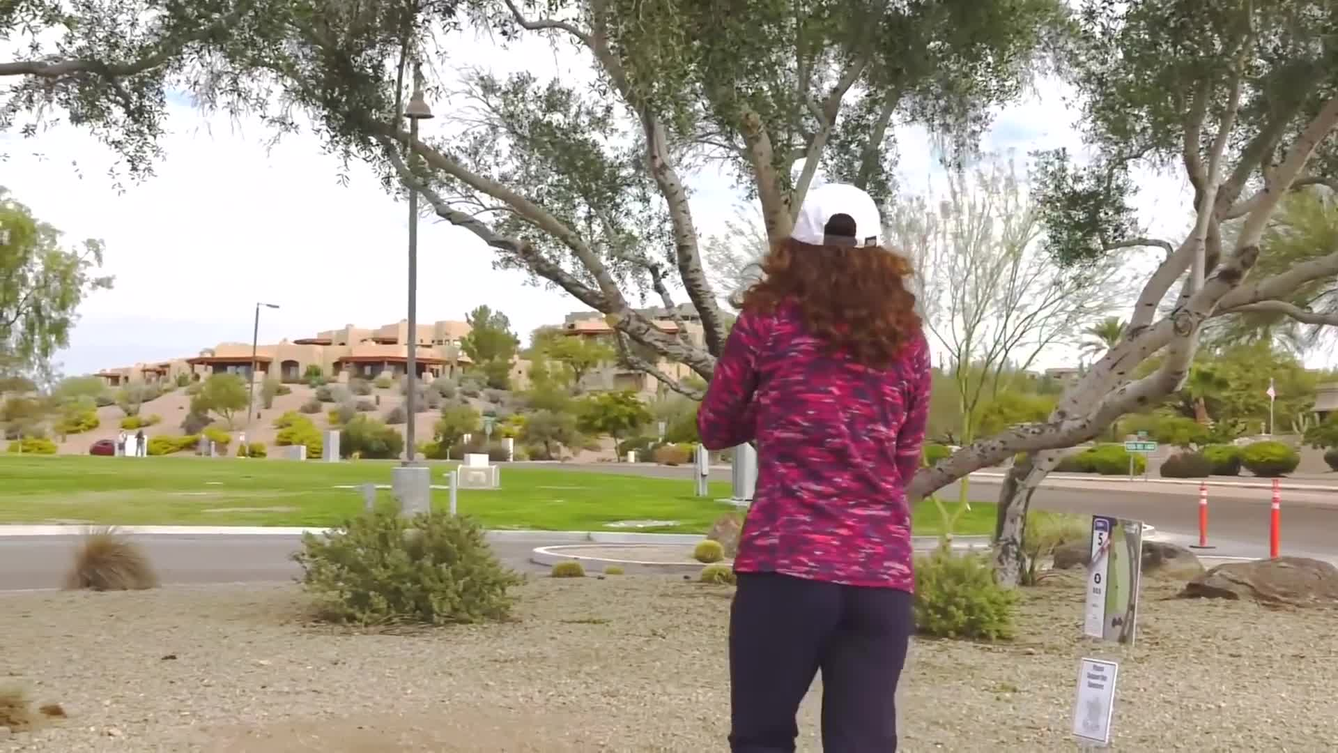 dgpt, disc golf, disc golf pro tour, sports, Round Two 2019 Memorial Championship - Jessica Weese hole 5 putt GIFs