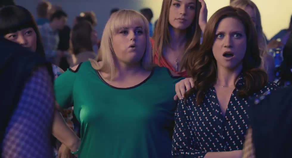 brittany snow, rebel wilson, MRW someone asks if I am jealous of the new talented gif makers GIFs