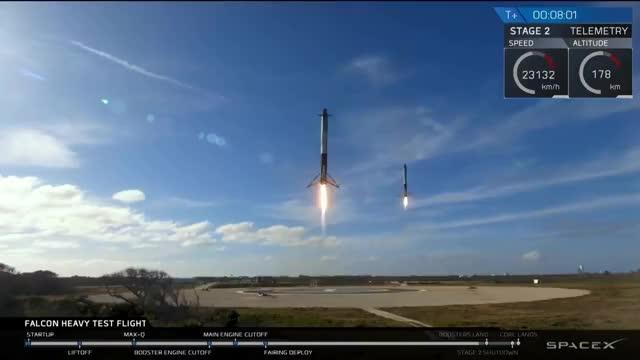 Watch Falcon Heavy Test Flight GIF on Gfycat. Discover more Falcon, Rocket, Starman, heavy, spacex GIFs on Gfycat