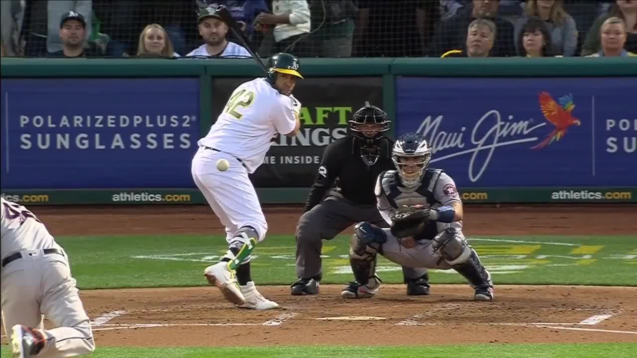 baseball, houston astros, matrix, oakland athletics, the matrix, Colin McHugh somehow dodges a come-backer to the mound like Neo from the Matrix (w/ slow-mo replay at the end). GIFs