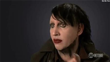 Watch and share Marilyn Manson GIFs on Gfycat