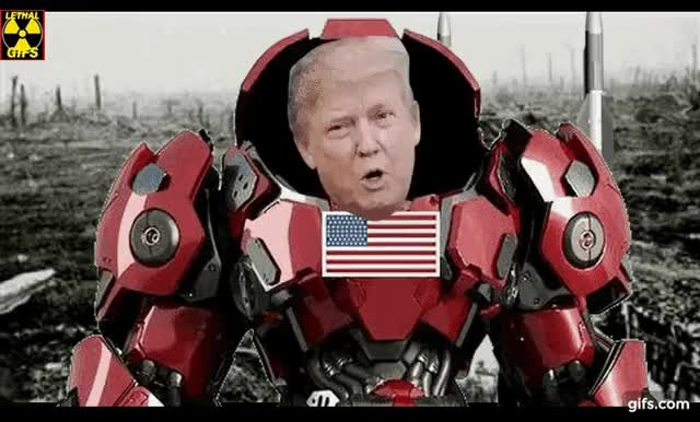 Watch and share Iron Trump GIFs and Rocketman GIFs by Mick Lethal on Gfycat