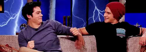 Watch Tyler Posey Dylan Brien image tyler posey and dylan obrien GIF on Gfycat. Discover more 1k, DYLAN IS JUST SO AMUSED BY POSEY IT'S SO CUTE, dylan o'brien, mine, mine: tw, mine: twcast, o'brosey, obrosey, tw cast, twedit, tyler posey GIFs on Gfycat