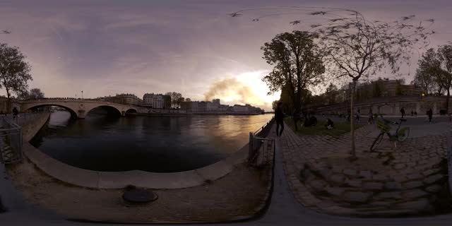 Watch and share Notre Dame Cathedral Fire, Paris, France - 360 VR Cinemagraph - Pandorama360 @ YouTube.com GIFs on Gfycat