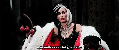 Watch this GIF on Gfycat. Discover more cruella, cruella de vil, funny, mr gold, once upon a time, ouat, ouat 4x12, ouat 4x13, ouat funny, ouat quotes, ouatfairytales, robert carlyle, rumpelstiltskin, rumple, rumple and cruella, rumplestiltskin, victoria smurfit GIFs on Gfycat