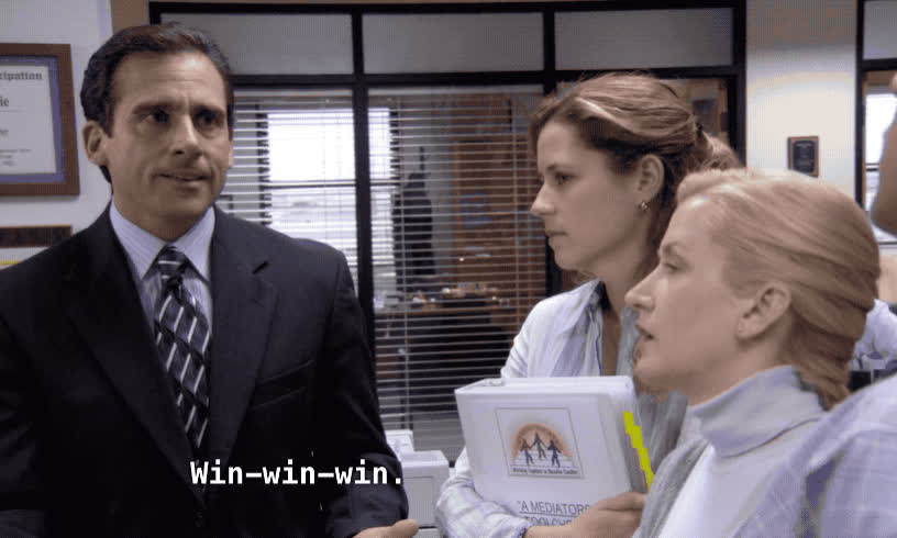 celebs, michael scott, steve carell, the office, win, Michael Scott - Win Win Win GIFs