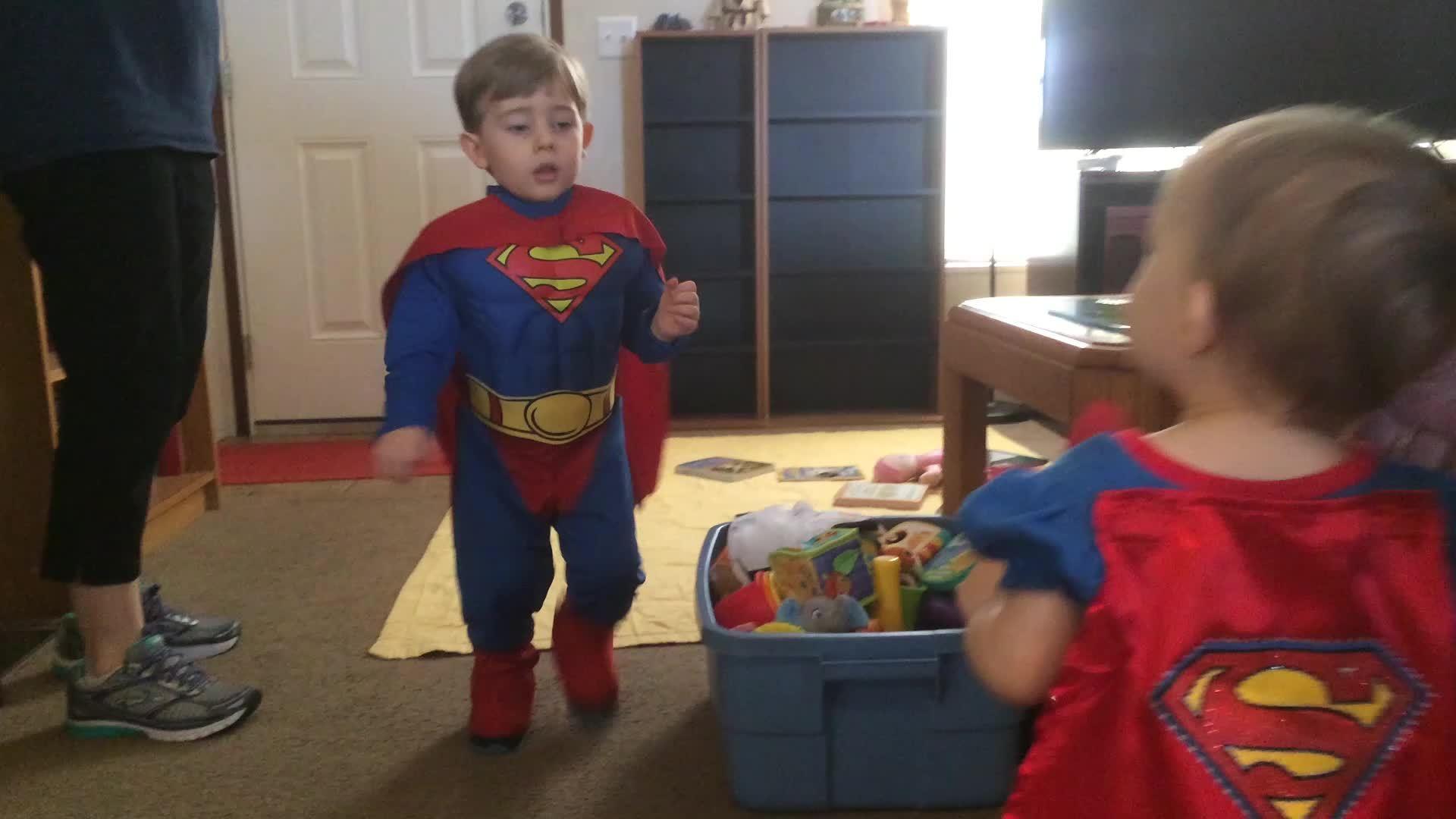Supergirl, aww, cute, Halloween hug. GIFs