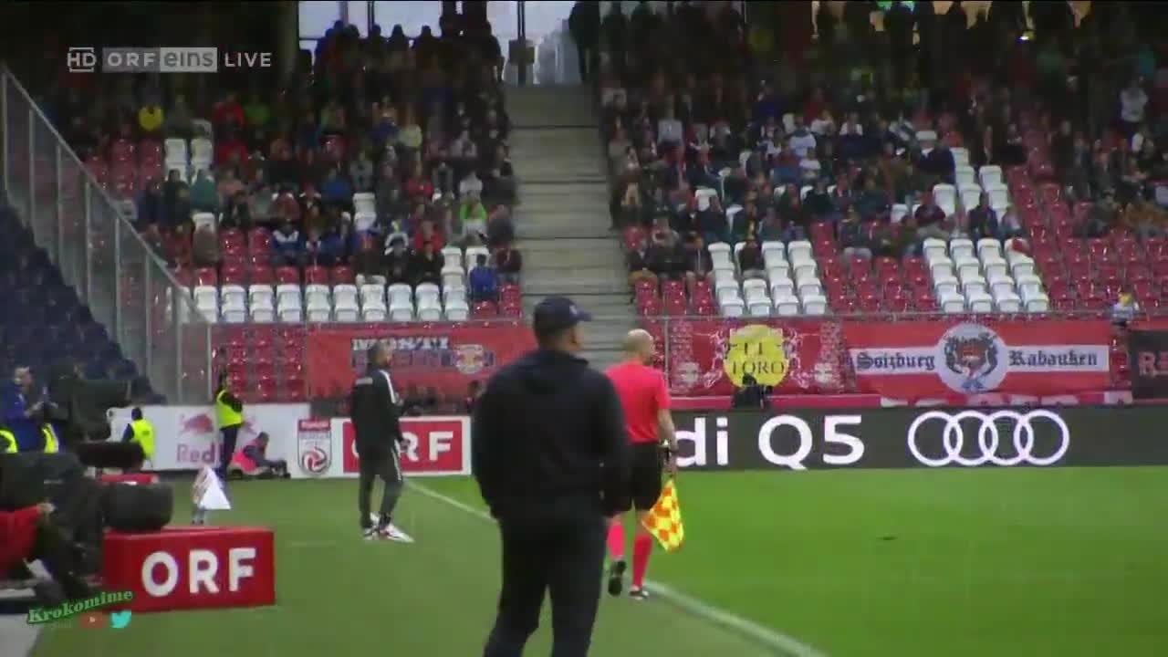 Rijeka Manager Kek Celebrating 1 0 Lead In Salzburg