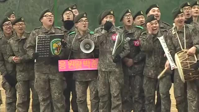 Watch and share Soldiers Cheering GIFs by itallmakescentsnow on Gfycat