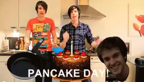 Watch and share Amazingphil GIFs and Pancake Day GIFs on Gfycat