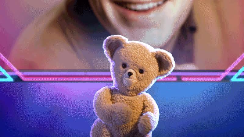 blow kiss, i love you, kiss, kisses, snuggle bear, Snuggle Bear Kiss GIFs
