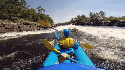 2 Unforgettable Days Of Whitewater Rafting Down The Ottawa River GIFs