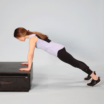 400x400 6 Full-Body Movements You Can Do Using Only a Box Box Pushups GIFs