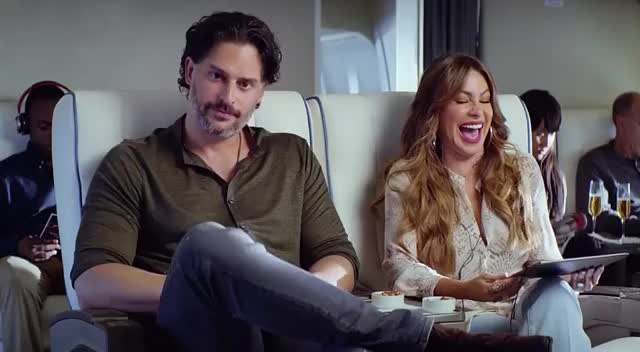 Watch this airplane GIF by GIF Queen (@ioanna) on Gfycat. Discover more 2018, airplane, awkward, commercial, emmys, funny, hilarious, hulu, joe, joe manganiello, joking, laugh, lol, manganiello, plane, sofia, sofia vergara, vergara, weird, wtf GIFs on Gfycat