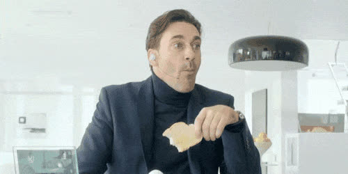 eating, jon hamm, How Many Episodes Of 'Black Mirror' Have Already Come True? GIFs