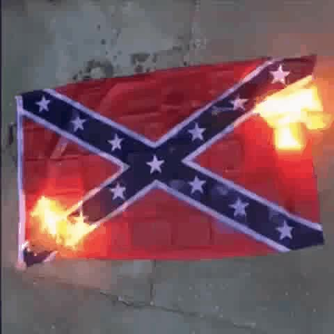 Watch Burning Confederate flag GIF on Gfycat. Discover more related GIFs on Gfycat