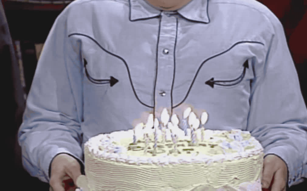 Sweeney, bday, birthday, blow, cake, candles, funny, glasses, happy, happy birthday, julia, live, lol, nerd, night, party, pat, saturday, snl, vintage, Happy birthday - Pat's party on SNL GIFs