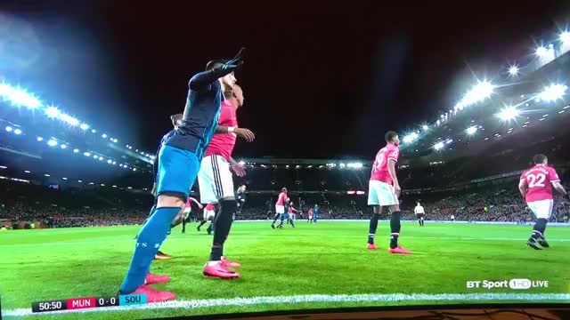 Watch and share Ashley Young Elbows Dusan Tadic 12/30/2017 GIFs on Gfycat